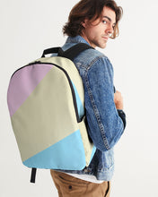 Load image into Gallery viewer, Pink, Blue, & Cream Color Block Large Backpack