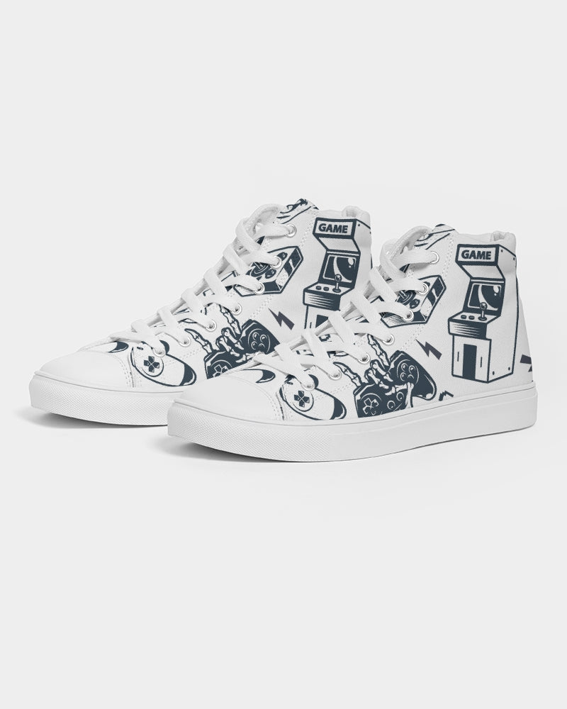 Game Over Women's High Top Canvas Shoe