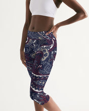 Load image into Gallery viewer, Paisley Beauty Women's Mid-Rise Capri