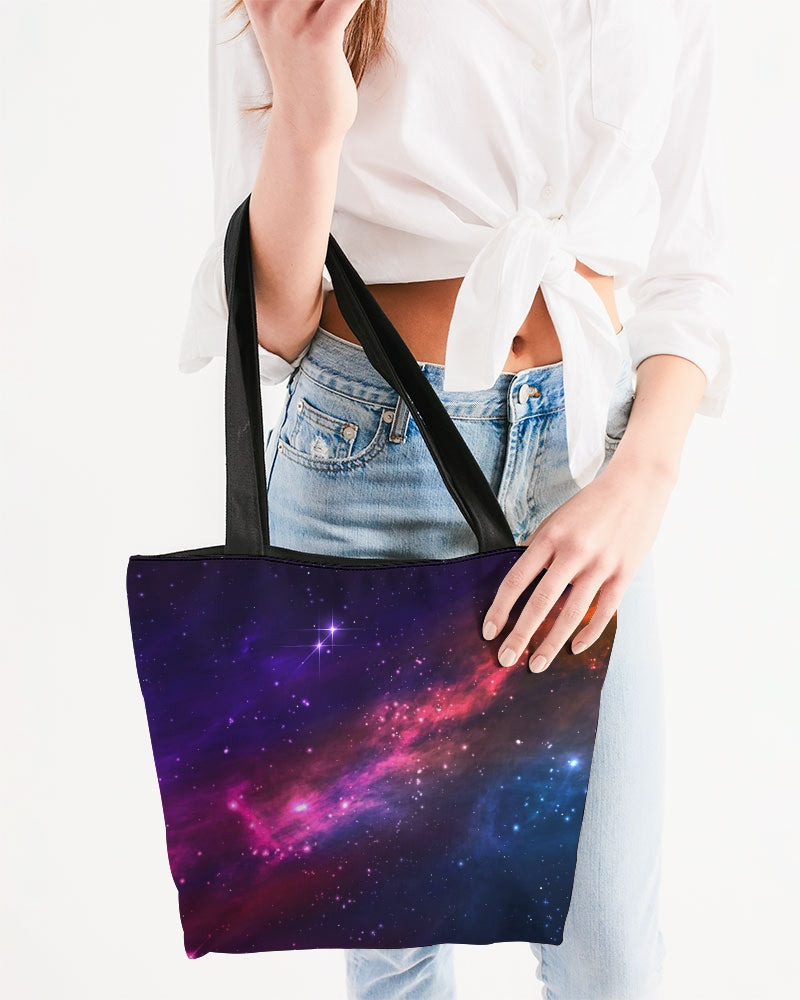 Deep Space Canvas Zip Tote
