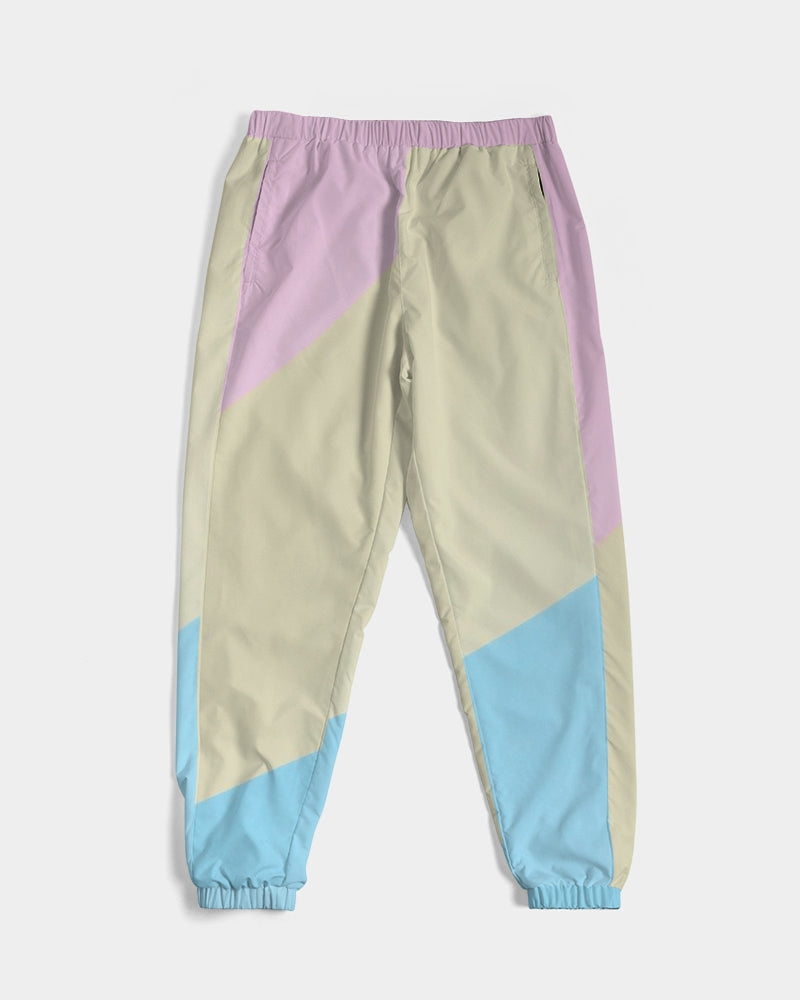 Pink, Blue, & Cream Color Block Men's Track Pants