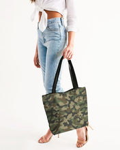 Load image into Gallery viewer, Camouflage Canvas Zip Tote