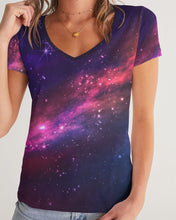 Load image into Gallery viewer, Deep Space Women's V-Neck Tee