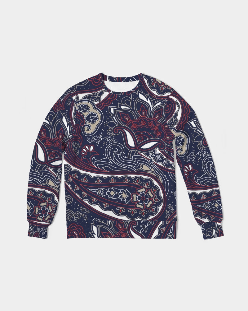Paisley Beauty Men's Classic French Terry Crewneck Pullover