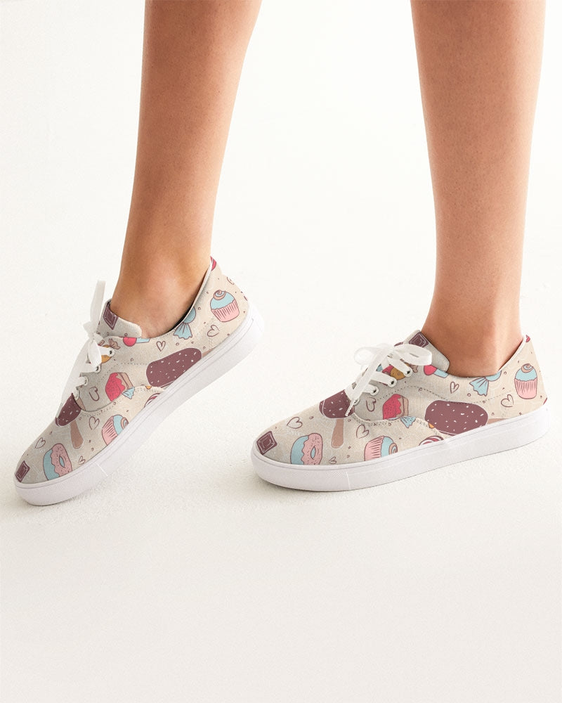 Sweet tooth Women's Lace Up Canvas Shoe