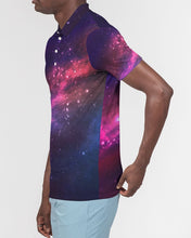 Load image into Gallery viewer, Deep Space Men's Slim Fit Short Sleeve Polo