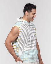 Load image into Gallery viewer, Banana And Golden Palm Leaves Men's Premium Heavyweight Sleeveless Hoodie