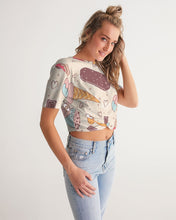 Load image into Gallery viewer, Sweet tooth Women's Twist-Front Cropped Tee