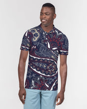 Load image into Gallery viewer, Paisley Beauty Men's Slim Fit Short Sleeve Polo