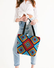 Load image into Gallery viewer, Tribal Patchwork Canvas Zip Tote