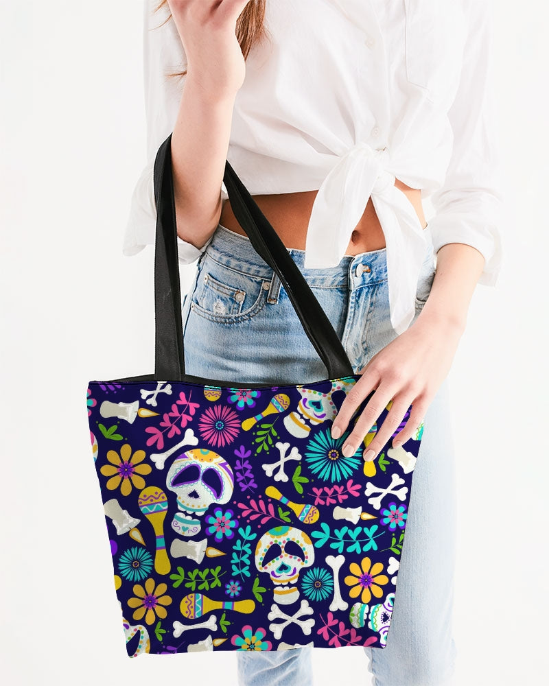 Day Of The Dead Festival Canvas Zip Tote