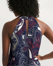 Load image into Gallery viewer, Paisley Beauty Women's Halter Dress
