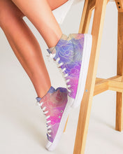 Load image into Gallery viewer, Pastel Clouds Women's High Top Canvas Shoe