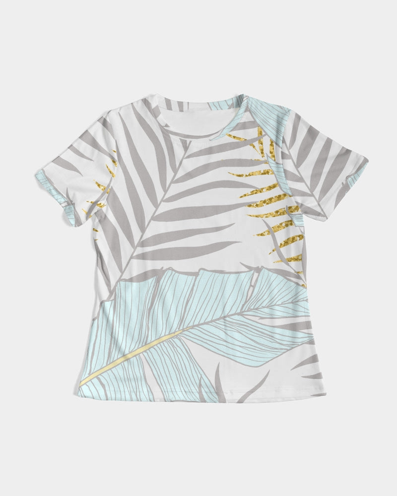 Banana And Golden Palm Leaves Women's Tee