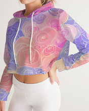 Load image into Gallery viewer, Pastel Clouds Women's Cropped Hoodie