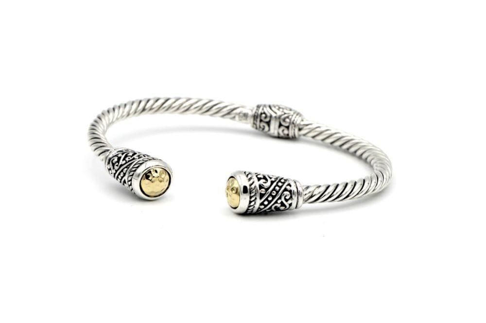 Samuel B BANGLE Alba Bangle Silver And Gold
