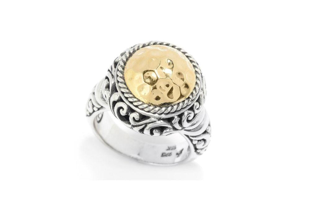 Samuel B RING Alba Ring Silver And Gold / 5