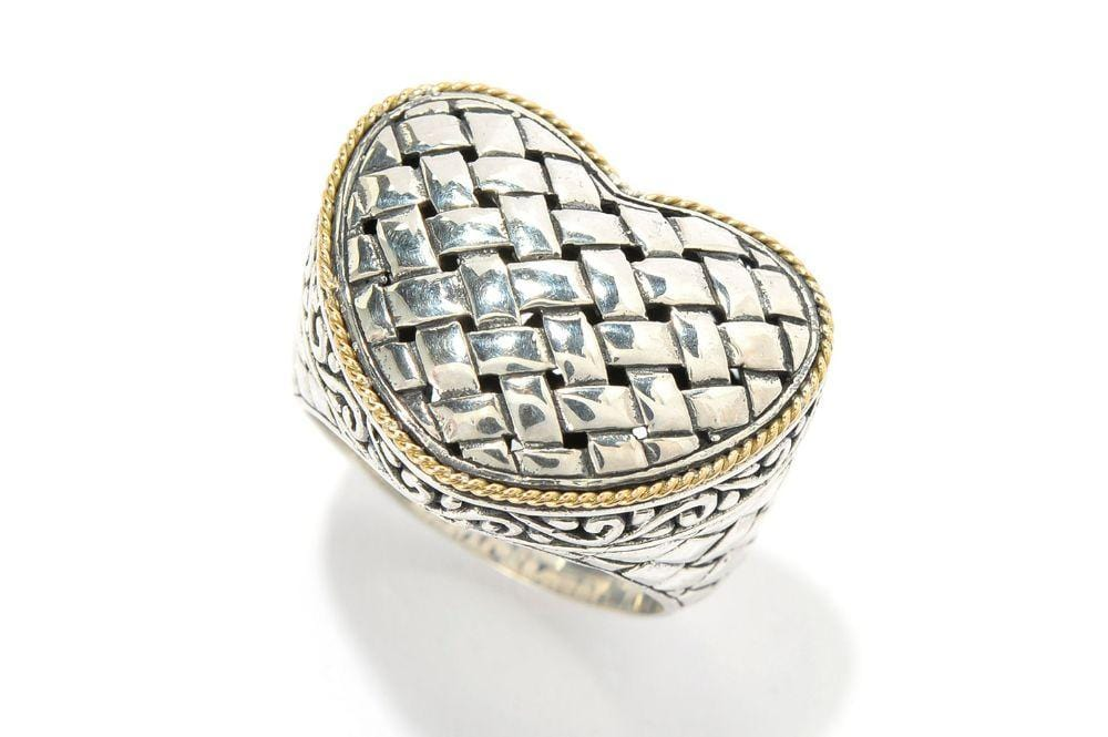 Samuel B RING Affection Ring Silver and Gold / 5