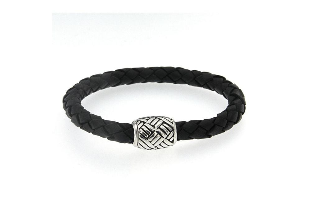Samuel B BRACELET BARON KILLARNEY BRACELET BLACK LEATHER