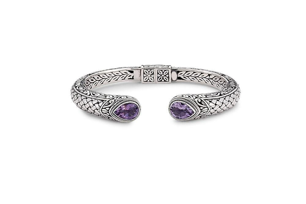 Samuel B BANGLE BASKETWEAVE BANGLE AMETHYST