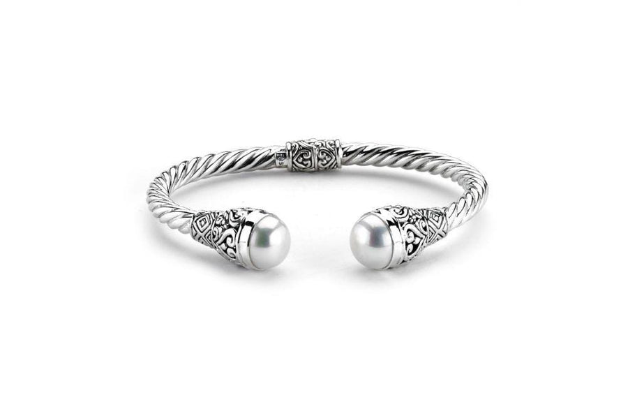 Samuel B BRACELET BLIZZARD BANGLE WHITE PEARL