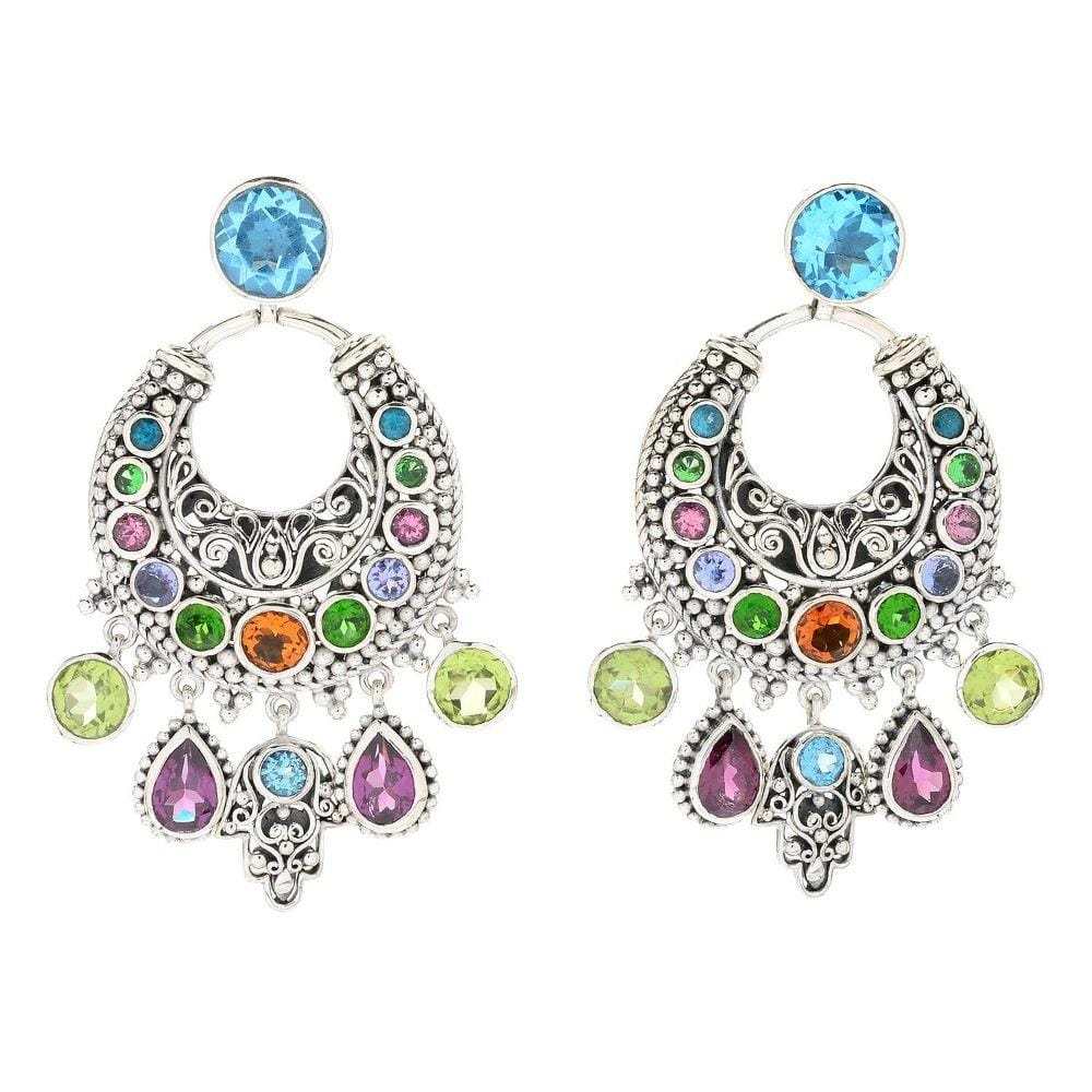 Samuel B EARRING BOHEMIAN CHANDELIER EARRINGS MULTI