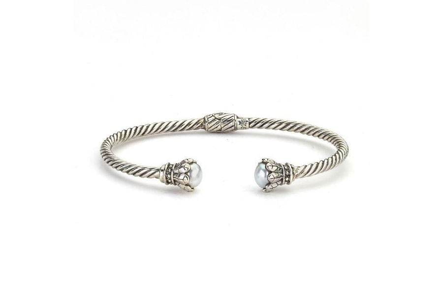Samuel B BANGLE CHIARA BANGLE WHITE PEARL