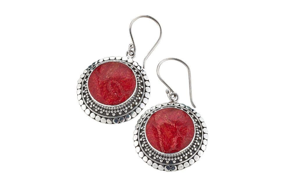 Samuel B EARRING CORONA EARRINGS CORAL