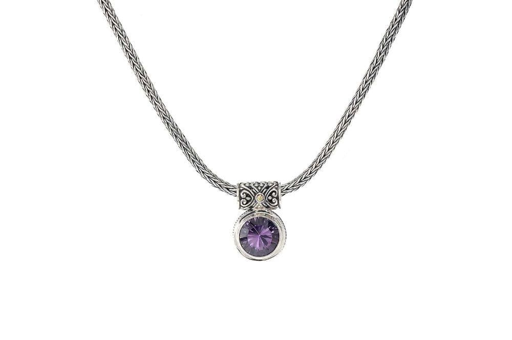 Samuel B NECKLACE DROPLET NECKLACE AMETHYST
