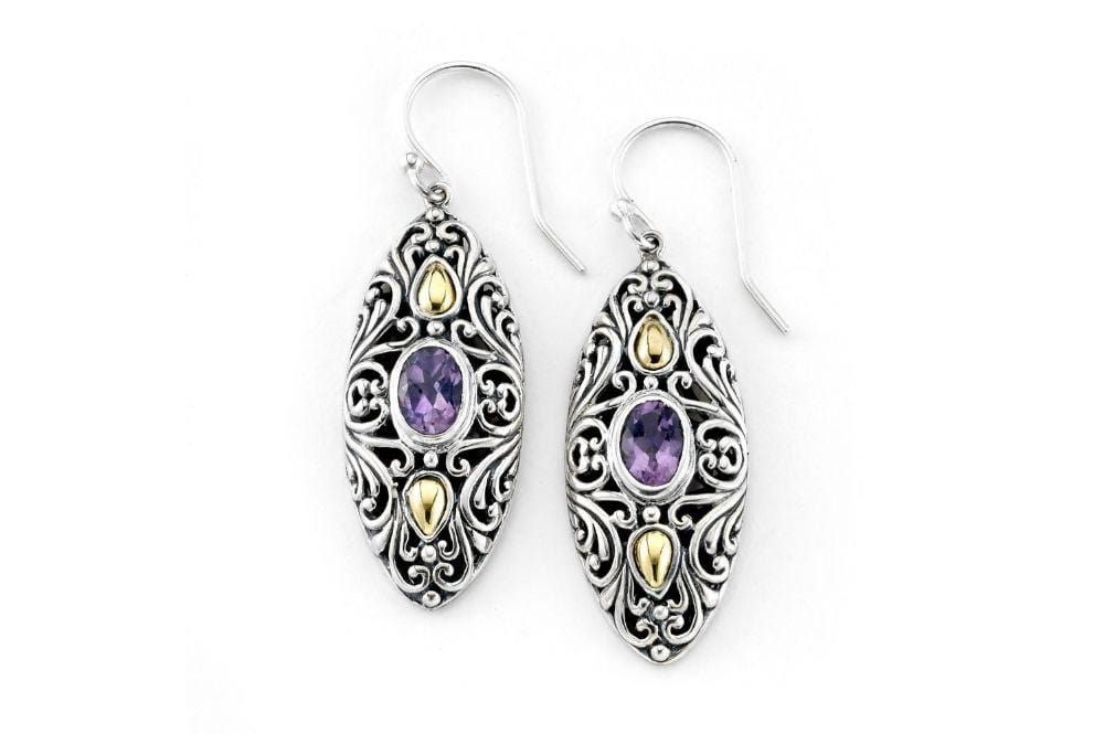 Samuel B. EARRING Elea Earrings- Amethyst Amethyst