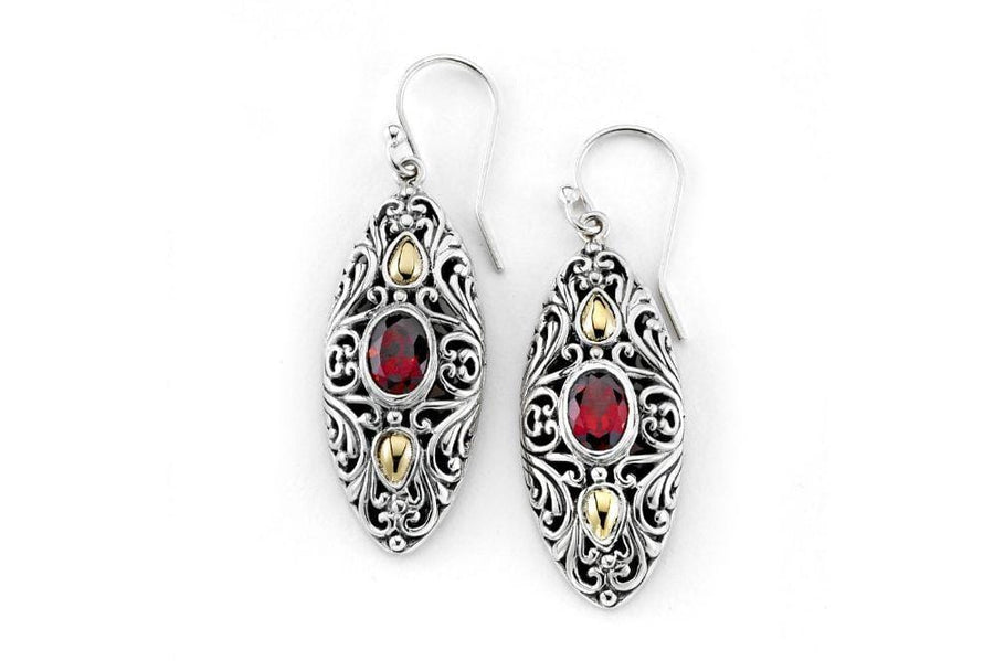 Samuel B. EARRING Elea Earrings- Garnet Garnet