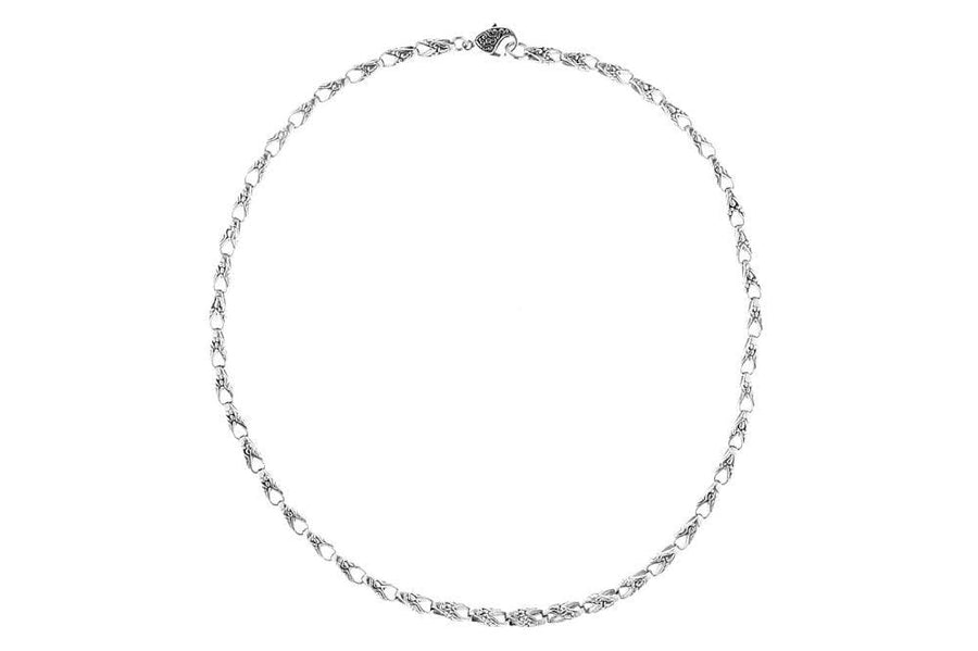 Samuel B CHAIN EMBRACE NECKLACE SILVER / 18