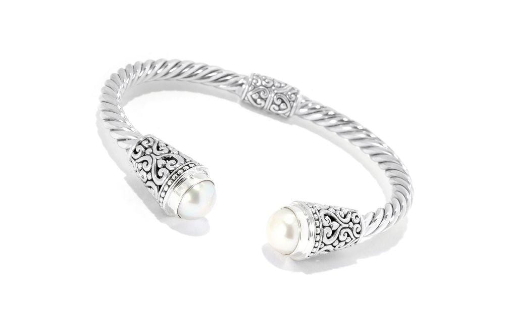 Samuel B. BANGLE Fiorella Bangle- White Pearl White