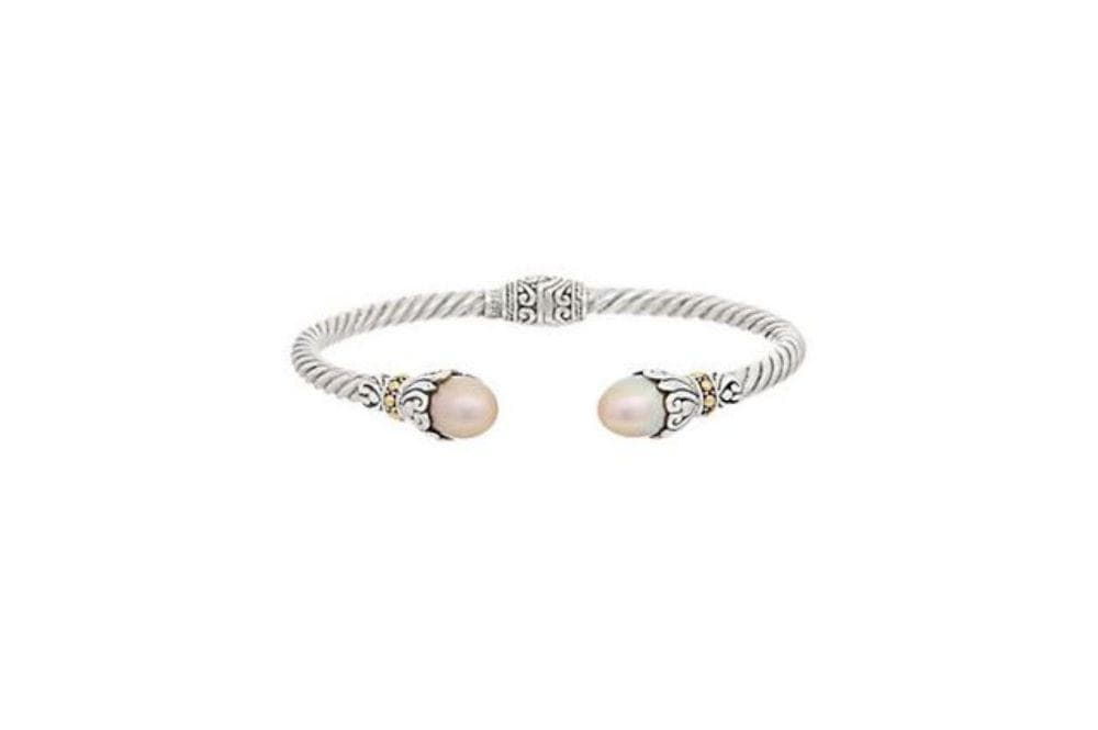 Samuel B BANGLE FRESH WATER BANGLE PINK PEARL
