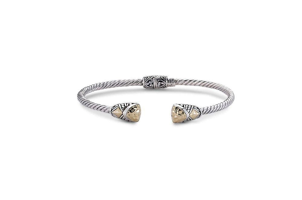 Samuel B. BANGLE Gemma Bangle- Silver And Gold Silver And Gold