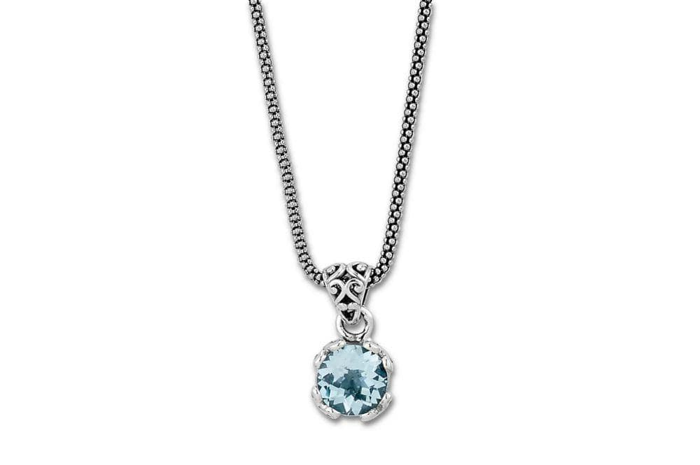 Samuel B. NECKLACE Glow Necklace- Blue Topaz Blue Topaz