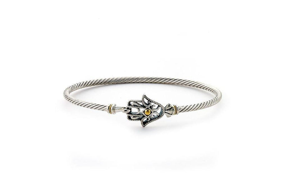 Samuel B BANGLE HAMSA BANGLE SILVER AND GOLD