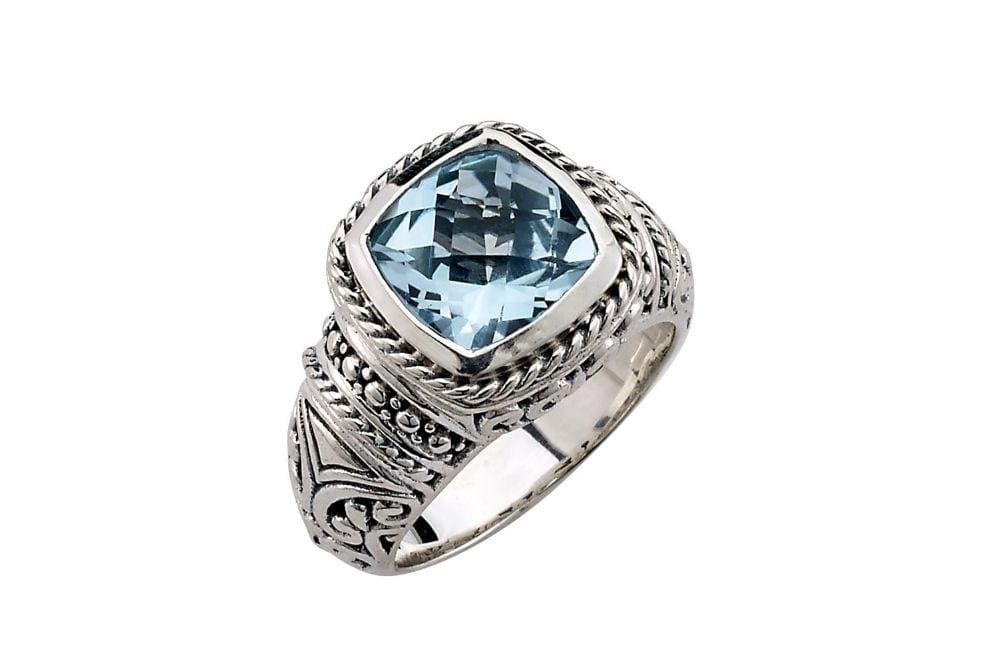 Samuel B RING HONESTY RING BLUE TOPAZ / 5