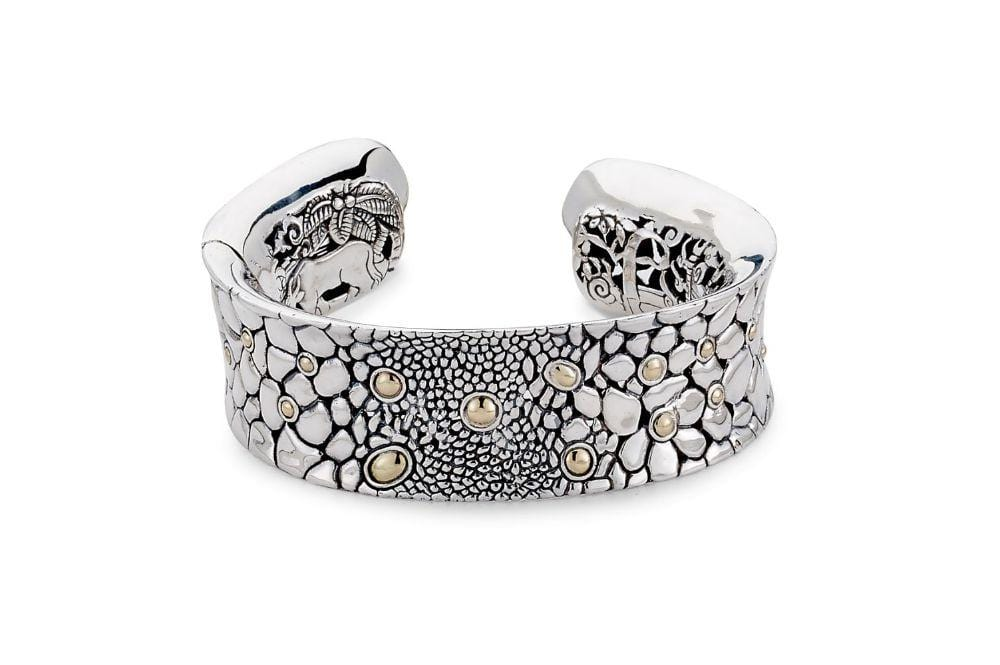 Samuel B BANGLE KELIKI BANGLE SILVER AND GOLD