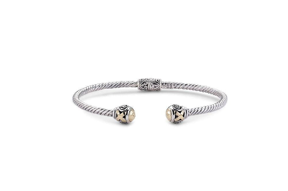 Samuel B. BANGLE Leandra Bangle- Silver And Gold Silver And Gold