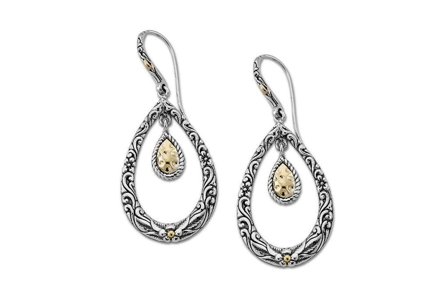 Samuel B. Jewelry EARRING LOPOK EARRINGS SILVER AND GOLD