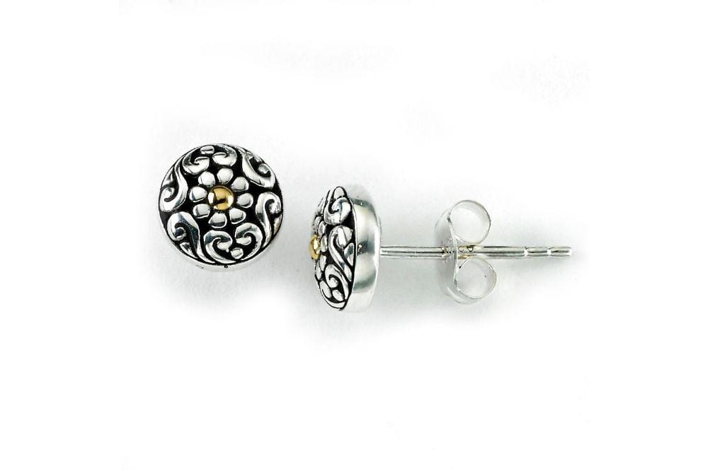 Samuel B EARRING MAYBELL STUDS SILVER AND GOLD