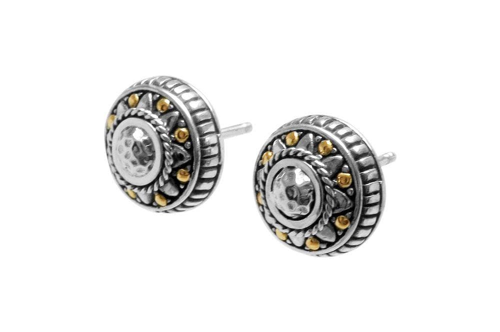 Samuel B EARRING MOZAIC EARRINGS SILVER AND GOLD