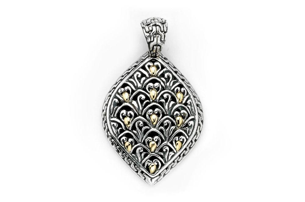 Samuel B PENDANT MYSTIC FOREST PENDANT SILVER AND GOLD