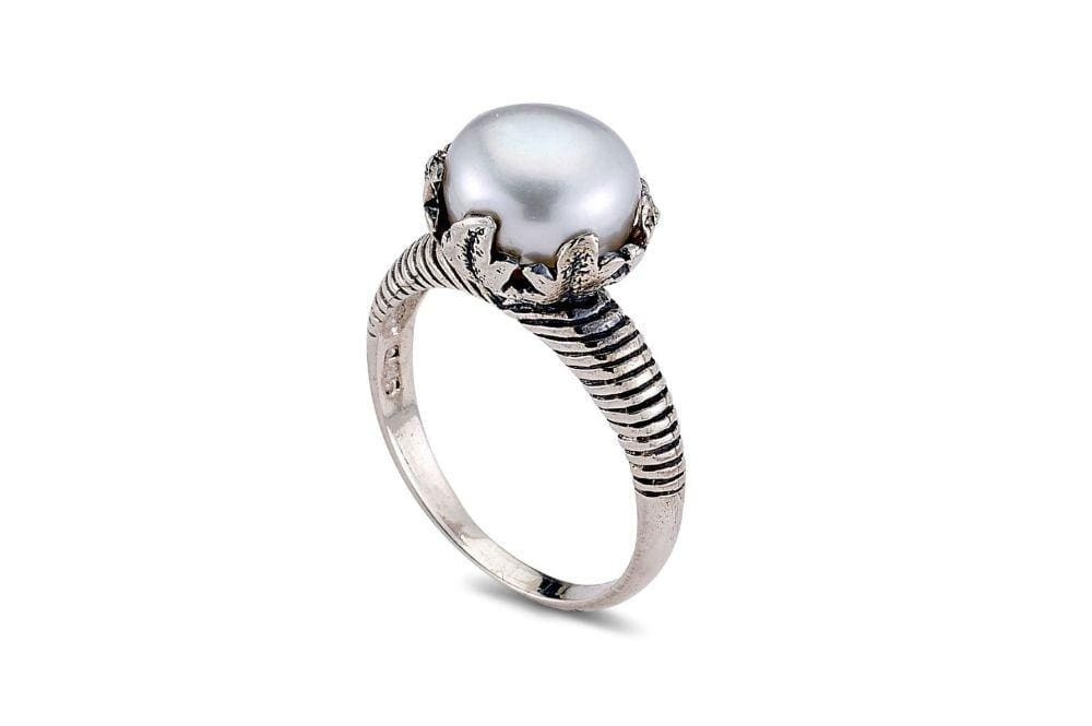 Samuel B RING PADMA RING WHITE PEARL / 5