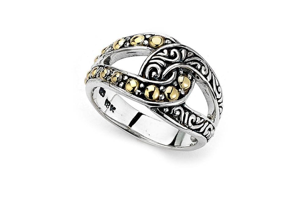 Samuel B RING PRIMA RING SILVER AND GOLD / 5