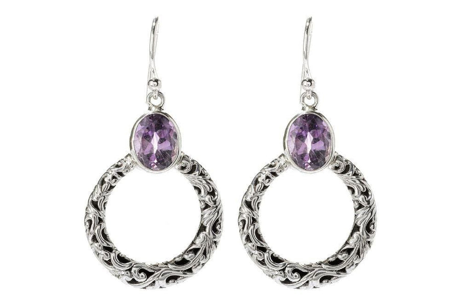 Samuel B. EARRING Sacred Circle Earrings- Amethyst Amethyst