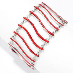 Sterling Staircase Bracelet- Coral