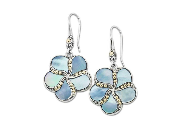 Sumba Earrings- Blue Mother Of Pearl 1
