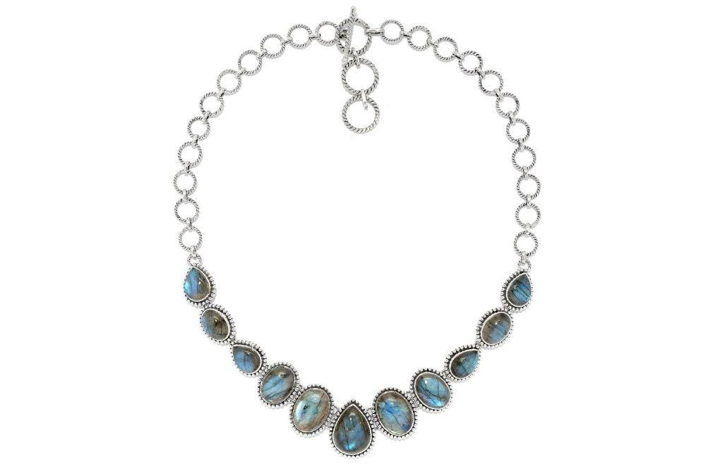 Samuel B NECKLACE Sweet Water Necklace Labradorite